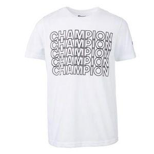 Men's Champion white / blue Monogram Tee-Shirt